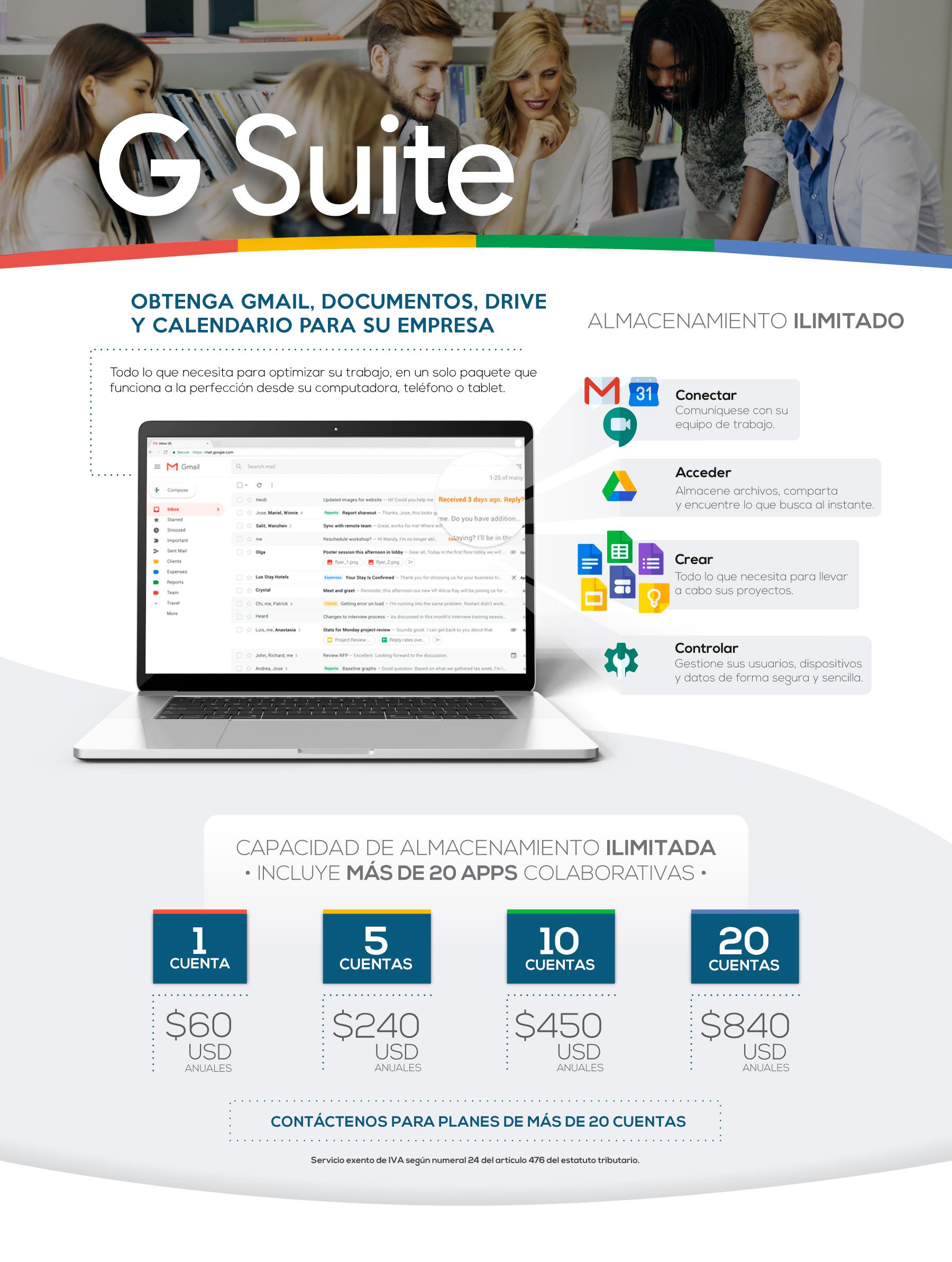Plataforma de correos Gsuite